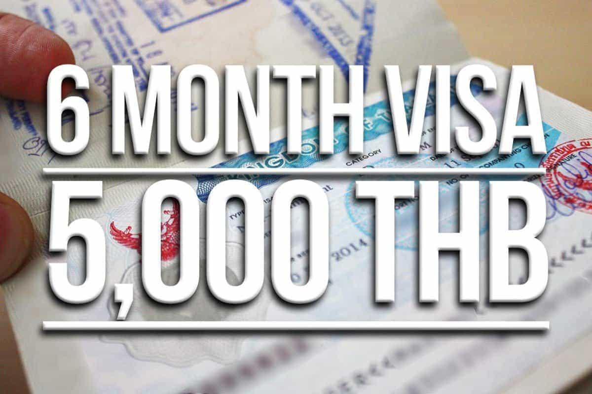 Thailand Tourist visas for 6 months