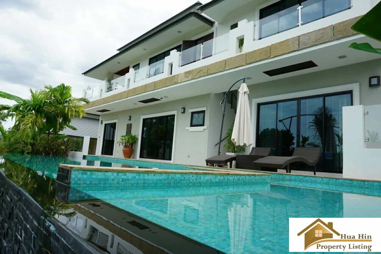 Spacious living hua hin 4 bed 5 bath private pool villa 5 bed 4 bath house