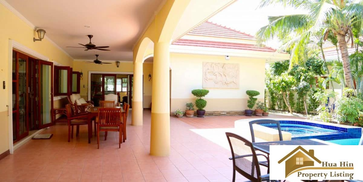 Well maintained 4 bed resale pool villa hua hin soi 116 for 8 villas hua hin